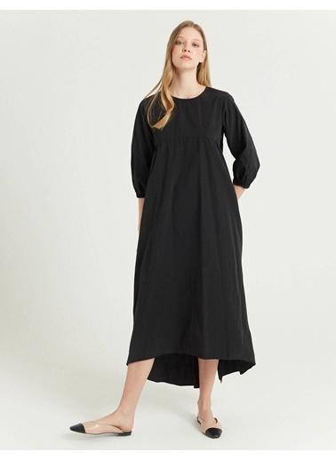 BGN Siyah - Pamuklu Geniş Elbise Siyah